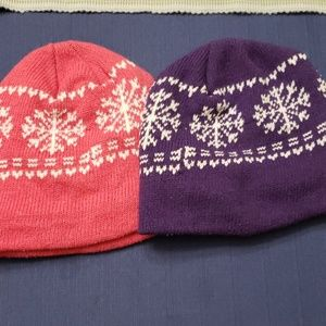 Other - Pink & Purple Snowflake Beanies